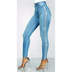 Sparkling Crystal Jeans